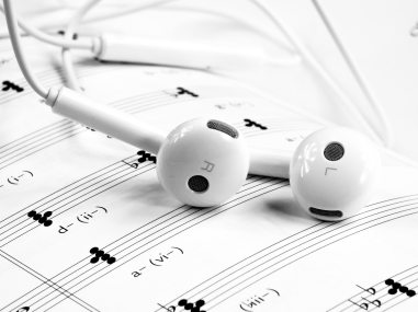 black-and-white-close-up-earphones-248510